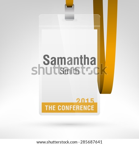 conference badge name tag placeholder blank のベクター画像素材
