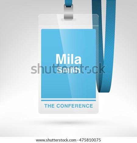 conference badge name tag placeholder blank のベクター画像素材