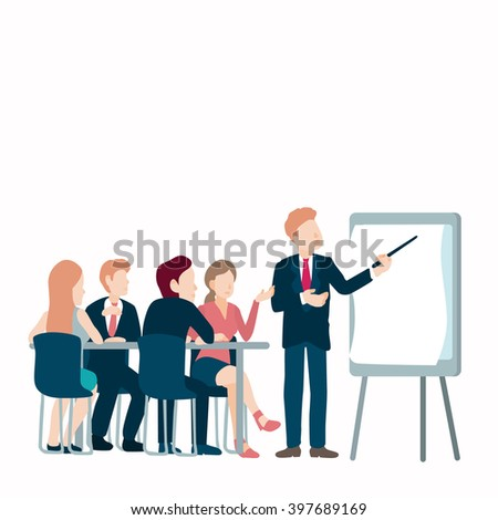 conference concept class presentation training isolated stock vector