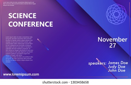 Conference design template. Business background. Colorful elements. Announcement conference. Abstract cover design. Vector illustration.