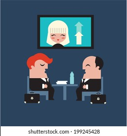 conference meeting business vector flat icons illustration