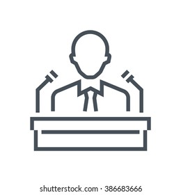 Conference room icon suitable for info graphics, websites and print media and  interfaces. Line vector icon.