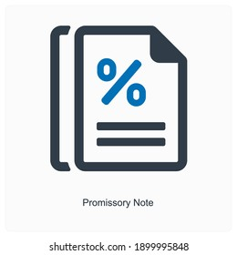 Confession and promissory note icon concept