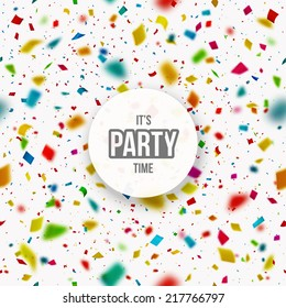 Confetti background, it's party time, eps 10