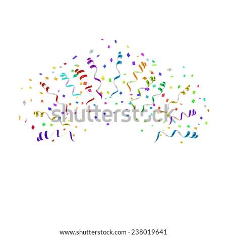 confetti blast different directions vector illustration stock vector