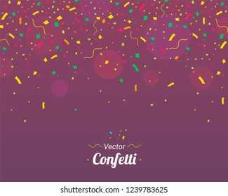 Confetti. Colorful confetti pieces Holiday background