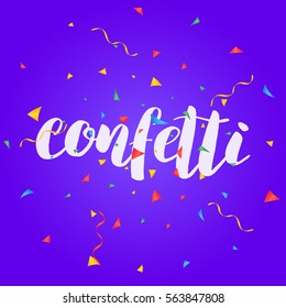 Confetti. Colorful confetti pieces. Holiday background