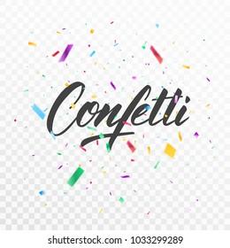 Confetti. Colorful confetti pieces. Holiday festive background
