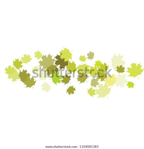Confetti of multicolored leaves isolated on white background.Falling confetti from minimalistic maple leaves. Abstract leaf for label, card, poster, cover, leaflet, textile design.