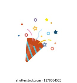 Confetti popper icon vector