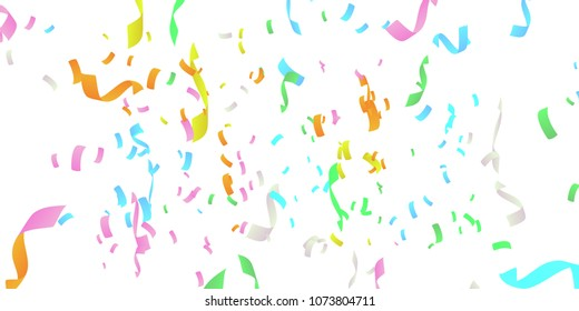 Confetti rain vector illustration. colorful confetti pieces.