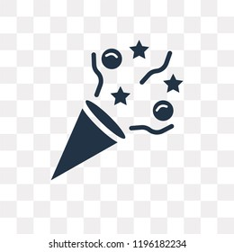 Confetti vector icon isolated on transparent background, Confetti transparency concept can be used web and mobile