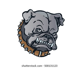 Confidence Leadership Animal Head Logo - Bulldog Character
