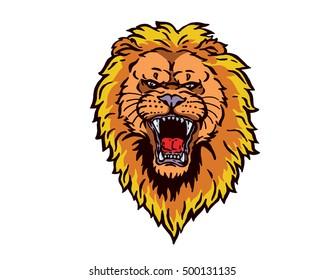 Confidence Leadership Animal Head Logo - Lion Character
