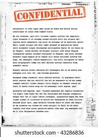 confidential document template