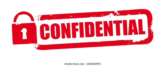 Confidential red grunge rubber stamp on white background. Vector illustration