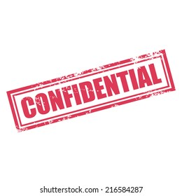 confidential rubber stamp effect