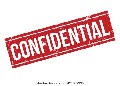 Confidential Rubber Stamp. Red Confidential Rubber Grunge Stamp Vector Illustration - Vector