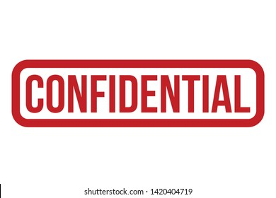 Confidential Rubber Stamp. Red Confidential Stamp Seal – Vector