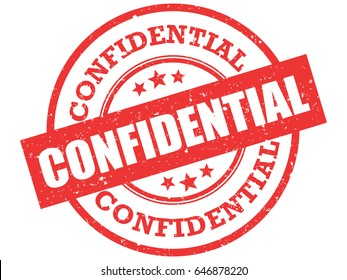 Confidential stamp vector. Confidentiality grunge rubber stamp on white background.