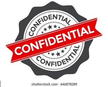 Confidential stamp vector. Confidential seal or badge concept isolated on white background.
