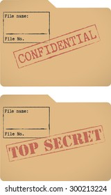'Confidential' and 'Top secret' document file templates