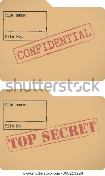 confidential top secret document file templates stock. Black Bedroom Furniture Sets. Home Design Ideas