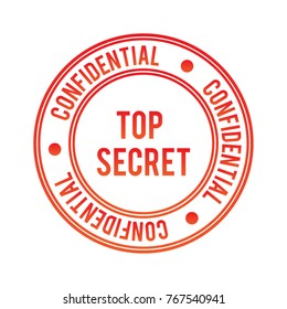 CONFIDENTIAL vector stamp