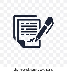Confidentiality agreement transparent icon. Confidentiality agreement symbol design from Time managemnet collection.