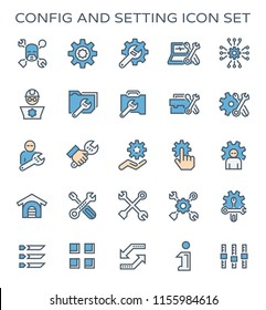 Config and setting icon set.