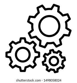 Configuration, gear Isolated Vector Icon Which can easily modify or edit