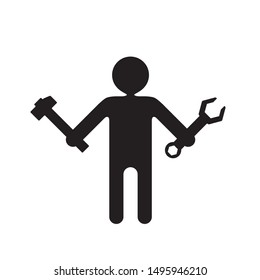 configuration icon , technical support  simple  illustration pictogram
