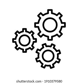 Configuration, settings, gear icon vector image. Can also be used for seo and web. Suitable for use on web apps, mobile apps and print media.