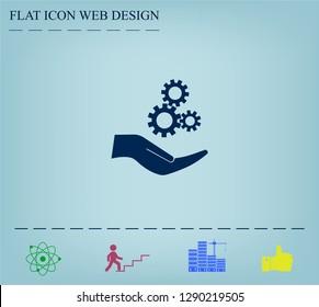 Configure Web icon. vector design