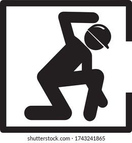 confined space sign danger icon vector caution