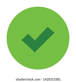 confirm icon. flat illustration of confirm vector icon for web