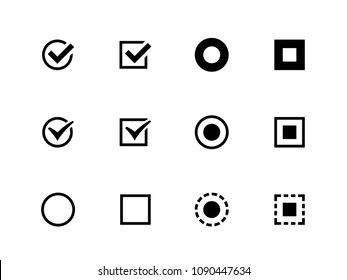 Confirm, Radio button vector flat icons