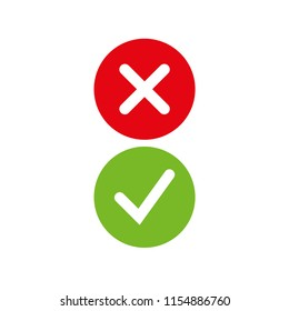 confirm yes no symbol red green sign vector icon