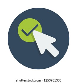 Confirmation flat icon. You can be used Confirmation icon for several purposes like: websites, UI, UX, print templates, promotional materials, info-graphics, web and mobile phone apps.