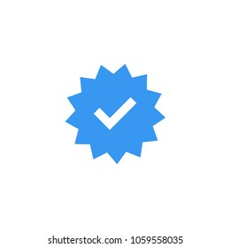 Confirmed account icon. Official account sign.