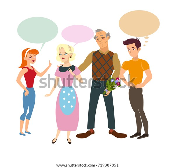Conflict Children Parents Jealous Children Disputing Stock
