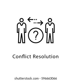 Conflict Resolution Vector Line Icon