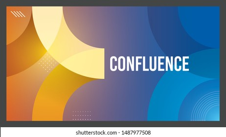 Confluence background design Template for corporate events