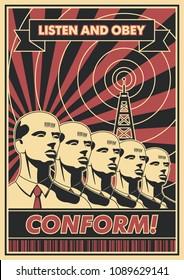 Conform! Vector Propaganda Poster Obey Style