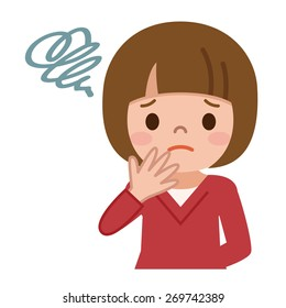 Confused Girl Isolated Stock Illustrations Images Vectors