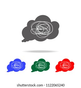 confusion in one's thoughts icon. Elements of psychological disorder in multi colored icons. Premium quality graphic design icon. Simple icon for websites, web design, mobile app on white background