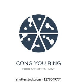 cong you bing icon vector on white background, cong you bing trendy filled icons from Food and restaurant collection, cong you bing vector illustration