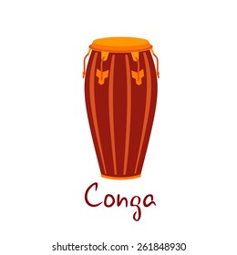 Conga musical instrument vector