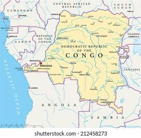 Map Of Africa Zaire River.Ilustraciones Imagenes Y Vectores De Stock Sobre Congo River Africa