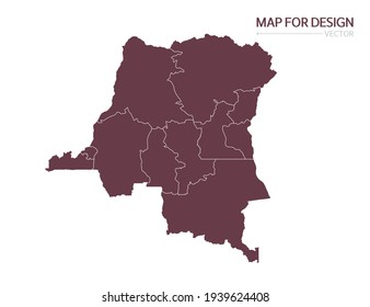 Congo map on white background vector illustration.